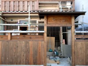 ゲストハウス東山‐外観工事