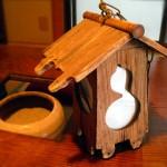 高瀬舟で作られた照明器具