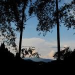 嵯峨野から東山の入道雲